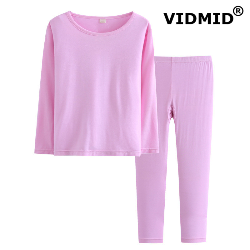 VIDMID new kids spring autunm cotton clothes baby boys and girls long suit baby underwear moisture