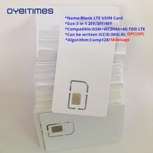 OYEITIMES 4G Programable Blank SIM Card GSM WCDMA LTE 2FF/3FF/4FF With COS ICCID IMSI KI OPC(OP) For Operator