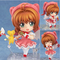 Kawaii Cartoon 10cm Clamp Cardcaptor Sakura Kinomoto Sakura Pvc Action Figures Toy Figures Model For Baby Kids Birthday Gifts