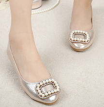 Fashion Cute Round Toe Loafers women single shoes casual flats Office Party Bridal Shoes woman flat heel Loafer shoes Size 34-42