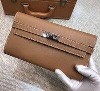 100% реальные тог кожаный бумажник Для женщин известный бренд Роскошные дизайнерские кошельки дамы кошелек женский из натуральной кожи сцеп