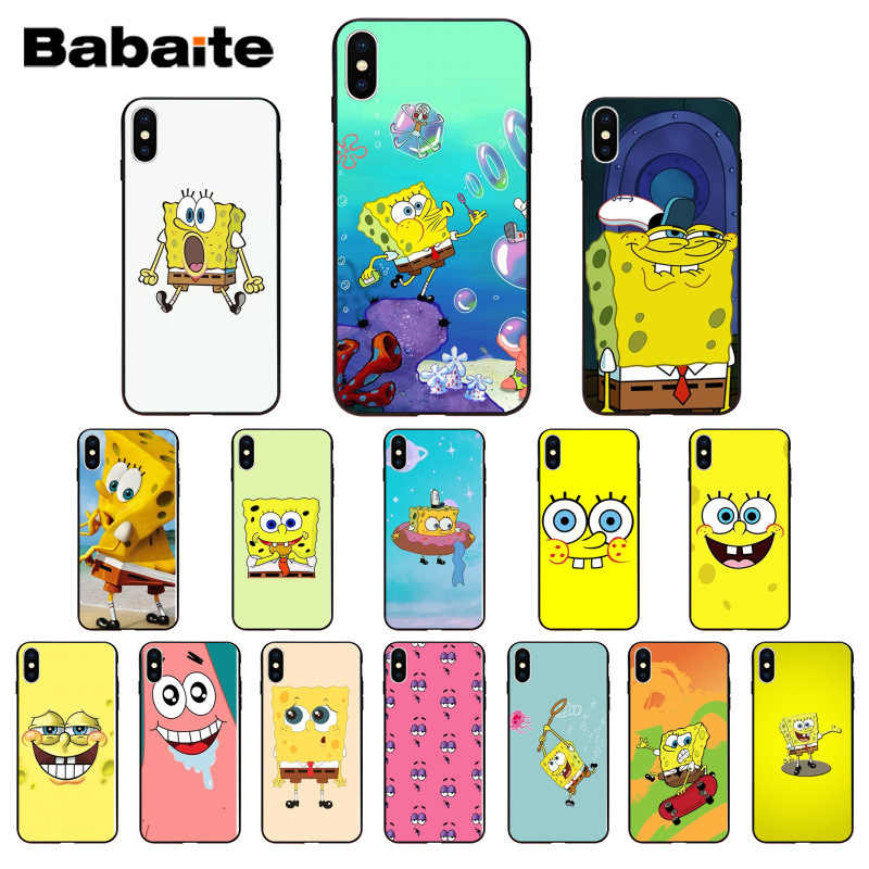 Babaite Best Friends Forever BFF Spongebob Luxury Unique Design Phone Cover for iPhone 6S 6plus 7 7plus 8 8Plus X Xs MAX 5 5S XR