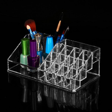 20 Lots Clear Makeup Cosmetic Organizer Case Acrylic Drawers jewelry Storage Box Holder Stand Lipstick Cosmetics moma muji acrylic case 5 drawers