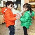 Dinossauro da moda Para Baixo Casaco de Roupas Das Meninas Dos Meninos Do Bebê Com Capuz Jaqueta Doudoune Enfants Grosso Quente Casual Casacos for Kids TZ98