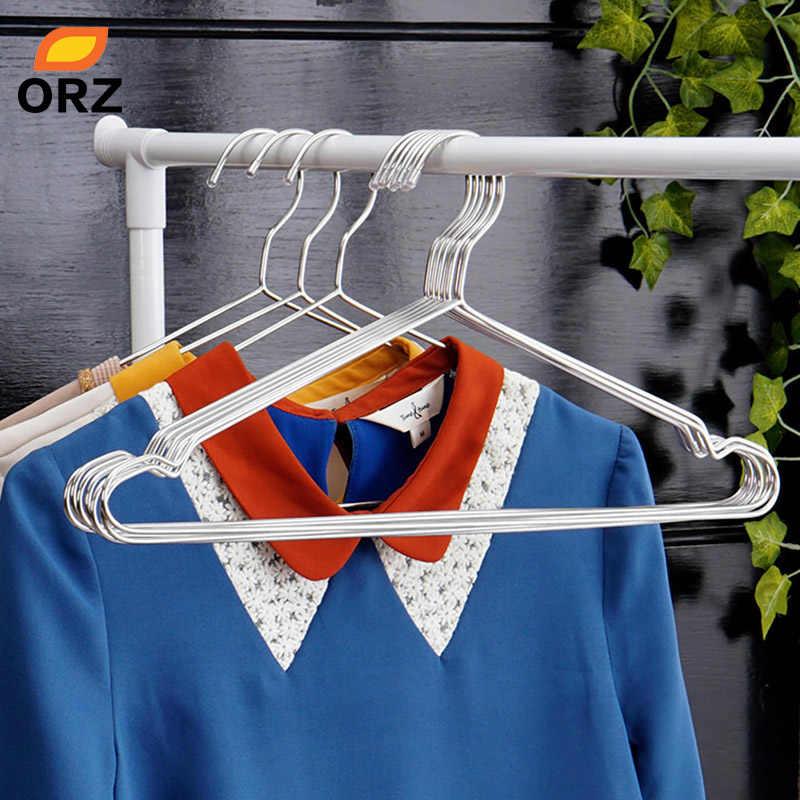 ORZ 10 個服ハンガーステンレス鋼単線金属ホルダー乾燥高品質服シャツハンガー服ラック