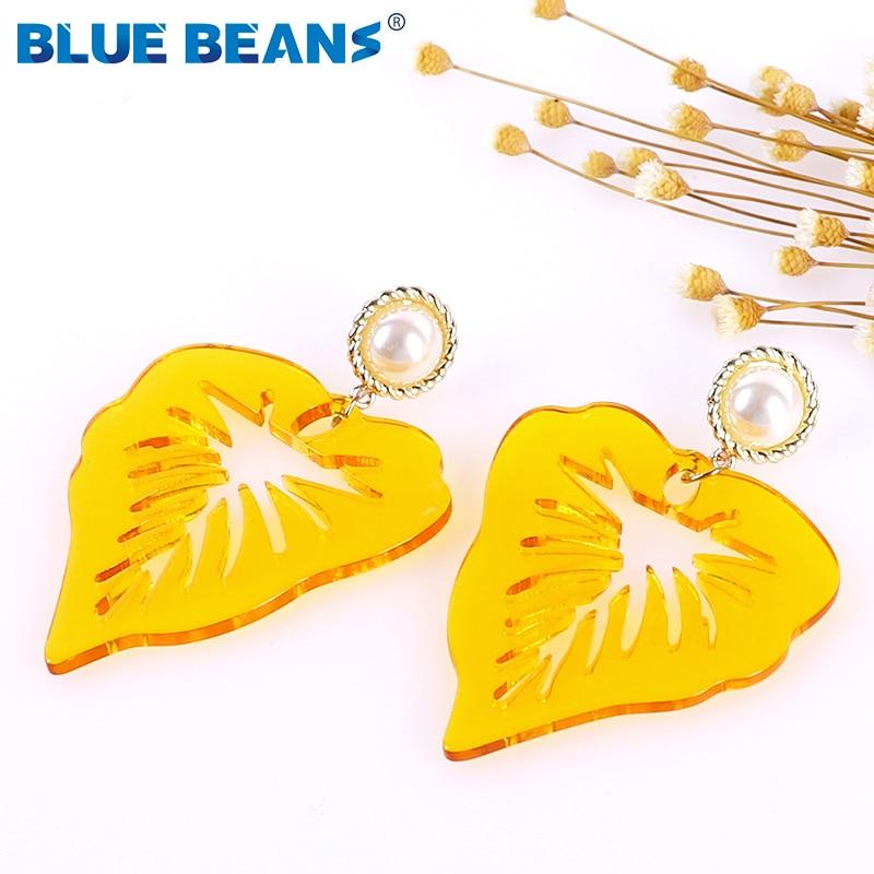 Fluorescent Acrylic Earrings for Women Drop Earing Statement Fashion luxury Acetate Jewelry Gifts Rainbow Earring Wholesale Boho