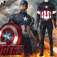 Avengers 2 Age Of Ultron Captain America Costume Superhero Cosplay Halloween Costumes Adult Men Battle Uniform