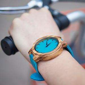 Image 3 - BOBO BIRD Women Watches Zebra Wooden Timepieces Turquoise Blue Men Watch Lovers Great Gifts Relogio Masculino Drop Shipping