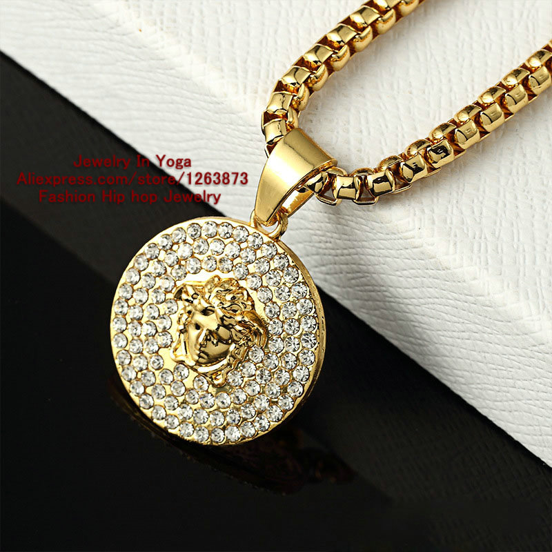 J style New Arrivals Fashion Design Men and women Necklace 24k ...