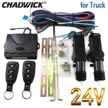 Central locking with remote control 24V volt for truck 2 door Universal CHADWICK 8113 Quality Actuator vehicle key keyless entry vehicle keyless entry system for truck car 15 right flip key 24v remote control 2 door central door lock locking chadwick 8118