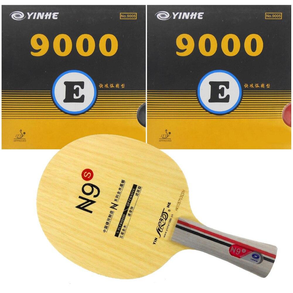 Pro Table Tennis PingPong Combo Racket Galaxy YINHE N9s + 2 Pieces 9000E Long Shakehand FL yinhe milky way galaxy n9s table tennis pingpong blade long shakehand fl