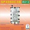 [SP4960C3B] 3.7 v 4000 mah li-polímero de íon de lítio mobile/tablet pc bateria para sam-cantado galaxy tab p6200 p3100 p3110