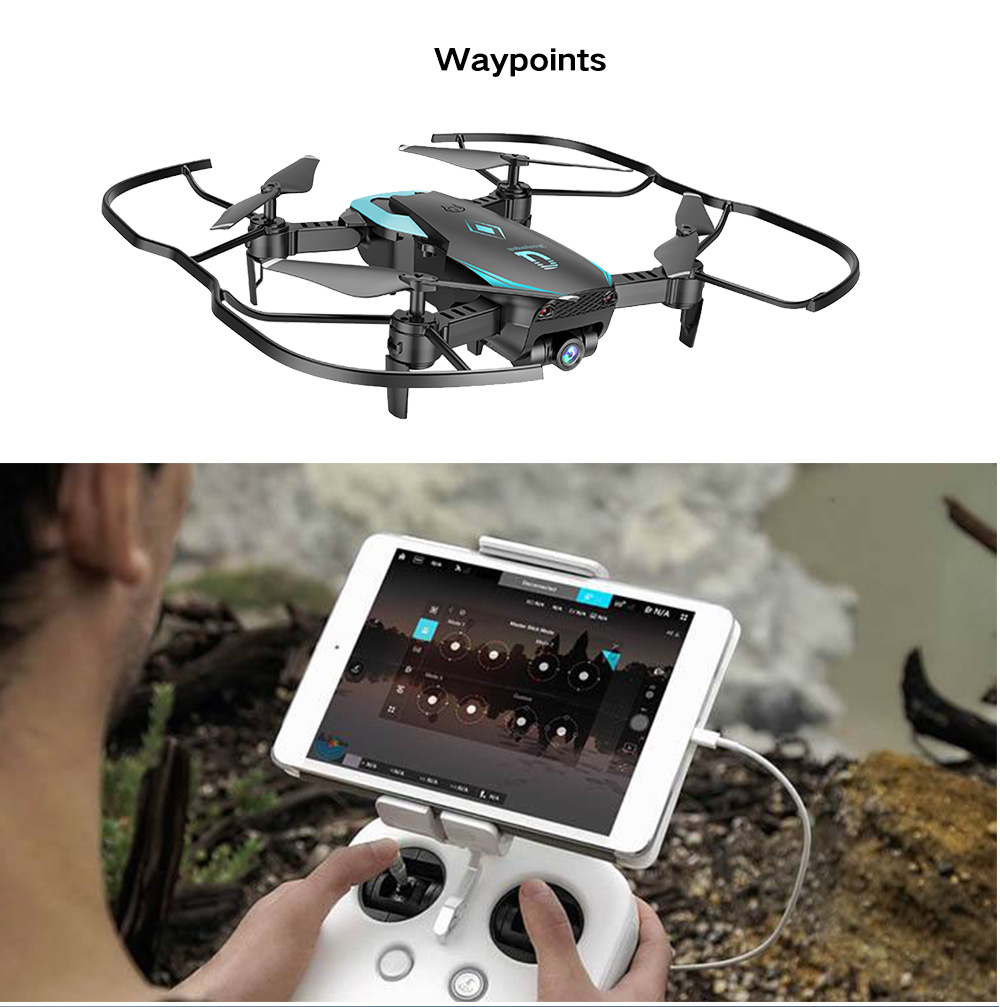 X12 RC Drone with Camera WiFi FPV Helicopter Altitude Hold Wide-Angle  Waypoints Follow Headless Mode One Key Return Quadcopter