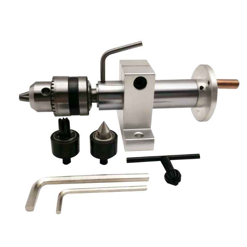 DIY Multifunction Drilling Tailstock Live Center With Claw For Mini Lathe Machine Revolving Rotrary Centre Accessories Woodworki