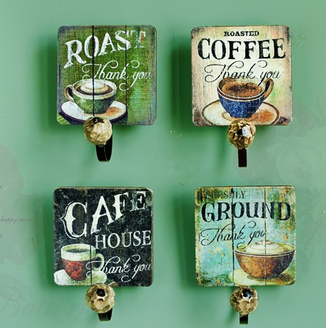 American Country Style Retro Cafe Bar Clothing Shop Wall Home Furnishing Living Room Decorative Wooden Clothes Hook