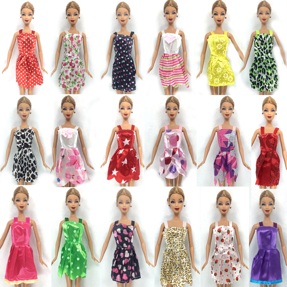 NK Hot Sell 16 Item Set 10 Pcs Mix Sorts Beautiful Party Clothes Fashion  Dress 6 Plastic Necklace For Barbie Doll Best Gift Toys. Barbie Set Reviews   Online Shopping Barbie Set Reviews on
