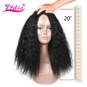 Lydia 1PCS/Pack Kinky Curly Hair Weaving 18-24 Inch Nature Color Wave Synthetic Hair Extension For Black Women Bundles
