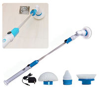 New Electric Cordless Rechargeable Power Scrubber Toilet Tiles Power Floor Cleaner Brush Mop Scrubber ABS Bathroom Kitchen Tub Cleaning Brushes     -