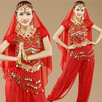 Zorro Kni Ght Belly Dance Practice Clothes 2018 New Costumes Performance Clothing Indian Dance Costume Female Adult Skirt Suit 1