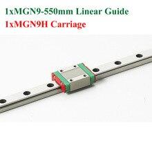 MR9 9 мм Мини Длина 550 мм С MGN9H MGN9 Линейной Направляющей Линейный Блок Чпу Коссель Для Чпу