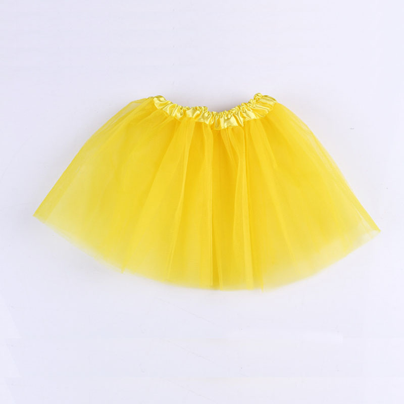 Summer Baby Girl Clothes Yellow Pink Tutu Skirt Kids ...