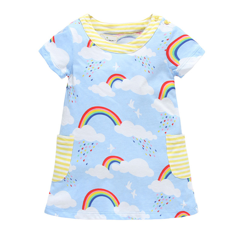 summer 2017 new rainbow dresses for clothing simple