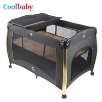 Coolbay P070 baby bed with fence,cot crib, high quality foldable easy to carry Multifunction