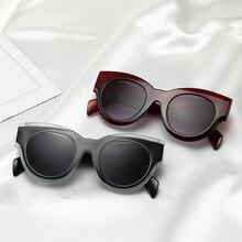 Montura gruesa gafas de sol de ojo de gato gafas de sol de mujer 2018 gafas c5a845cd93e6