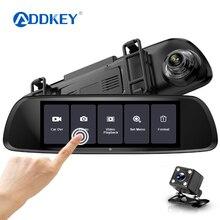 ADDKEY Full HD 1080P Автомобильный видеорегистратор 7,0 дюймов ips сенсорный экран рекордер камера двойной объектив с камерой заднего вида Авто регистратор видеорегистратор