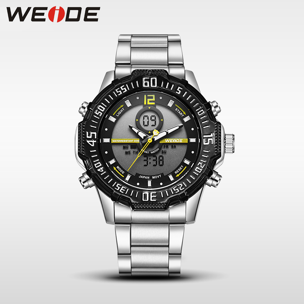 Weide casual genuine luxury brand quartz sport relogio digital masculino watch stainless steel analog led men automatic clock weide japan quartz watch men luxury brand leather strap stainless steel buckle waterproof new relogio masculino sport wristwatch