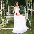 Когда-либо Красивые Вечерние платья HE08697 женская Красивый Элегантный Сексуальный Белый V шеи Длинные Платья Выпускного Вечера