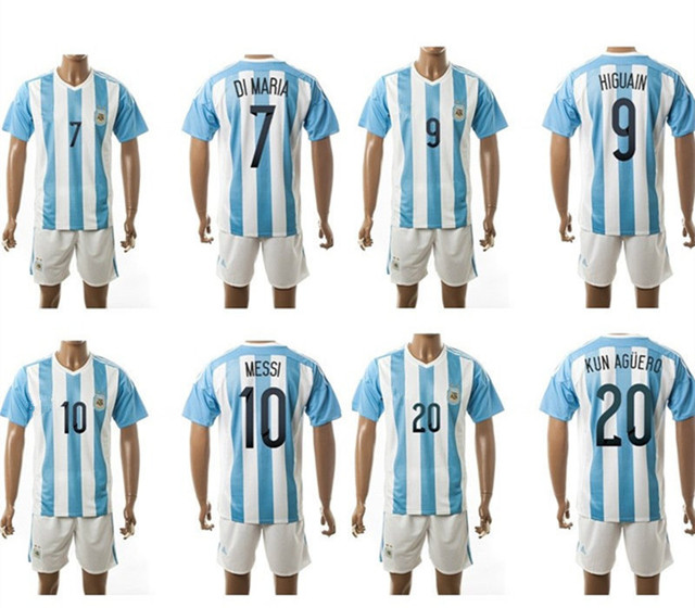 8278ab18b 15 16 Argentina national team soccer jerseys 10 messi soccer shirts ...
