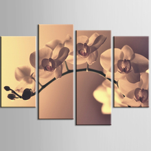 Wholesale Top Wall Deocr Canvas Painting 4 Pcs Modern flowers Printed Oil Pictures Beauty In Home Living Room No Frame or framed