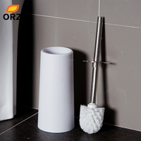 WC Brush Set Testing Decoration High Quality Plastic Toilet Brush Cup Toilet Bowl Stainless Steel Toilet