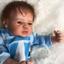Exquisite Handmade Silicone Bebe Reborn Dolls boy Babies Toys Soft cotton body Realistic Fake baby doll 55 cm children gift