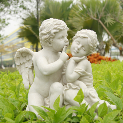 Outdoor lovers angel ornaments courtyards gardens floor for Figurine decoration jardin