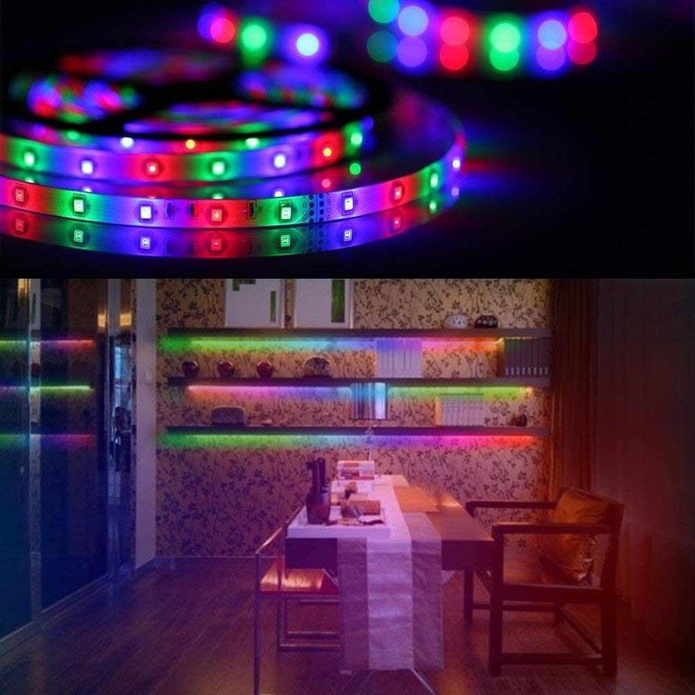 DC 12 v LED Strip Lights SMD 2835 60 leds/m Không thấm nước Linh Hoạt LED Băng Băng 5 m 10 m RGB LED Strip Kit + LED Điều Khiển + Power
