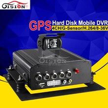 Sistema de Seguridad del vehículo HDD 4CH DVR Móvil Con GPS Para Camiones Seguimiento de Registros GPS Track Bus Mdvr Coche Cámara de Visión Trasera Kit