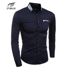 2017 Brand New high quality Men Shirt Male Dress Shirts Men's Fashion Casual Long Sleeve Business Formal Shirt camisa social