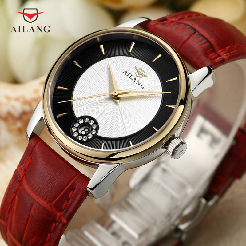 New Popular Minimalism Women Elegant Dress Watches Mechanical Crystals Watch 30M Waterproof Real Leather Wristwatch Analog RelojNew Popular Minimalism Women Elegant Dress Watches Mechanical Crystals Watch 30M Waterproof Real Leather Wristwatch Analog Reloj