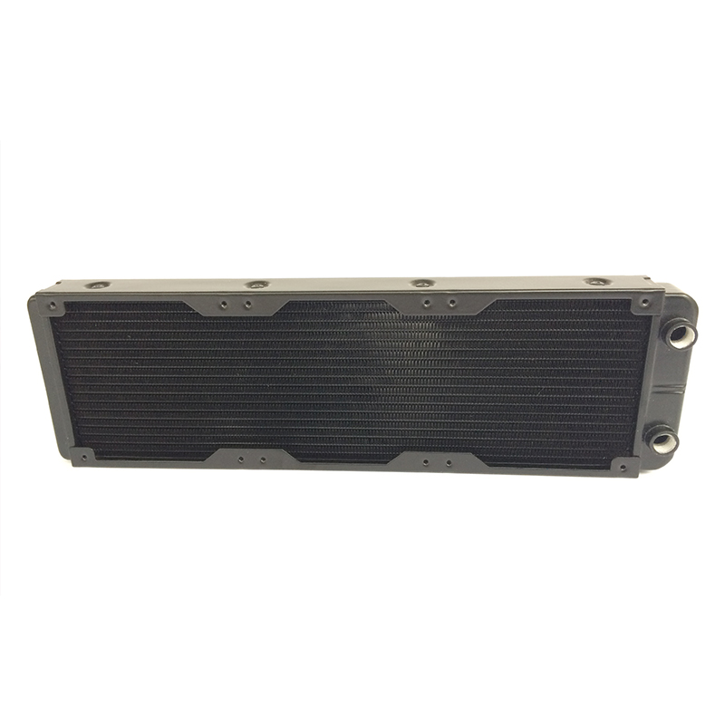 360mm 18 Tubes Straight Threaded Mouth Water Cooling Row Radiator Heat Exchanger Computer PC Cooling Row