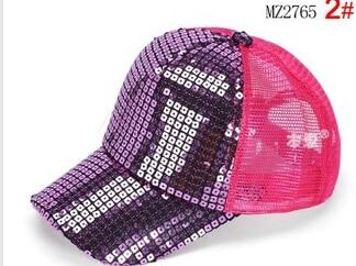 50 шт./лот Federal Express быстро в Корейском стиле повседневные платья Регулируемый блестками Бейсбол Кепки для мальчиков и девочек спортивная шапочка - Цвет: 3
