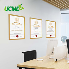 A4 Magnetic Self-adhesive Frames Sticker Gold Picture Photo Certificates Frame Office Store Document Poster Decoration Frame(China)