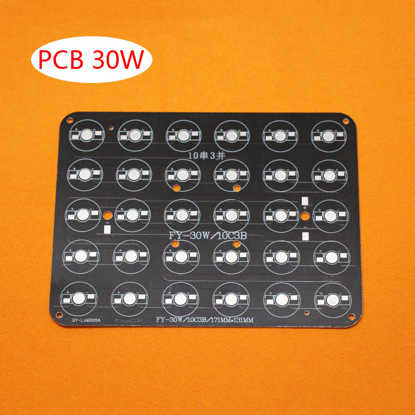 10pcs/lot, 30W LED PCB , high power LED Rectangular aluminum plate base , apply to buried lights, cast light, fill light and so vibration of orthotropic rectangular plate