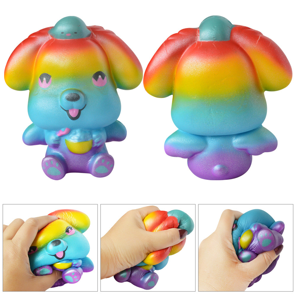 Spotted Bread Scented Dog Decompression Toys Squeeze Toys Cute Slow Rising