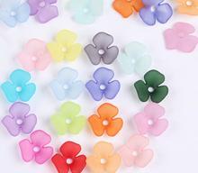 Fashion DIY Acrylic Flower Loose Beads headdress leaf jewelry accessory plastic beads 22mm 50 pieces y1034