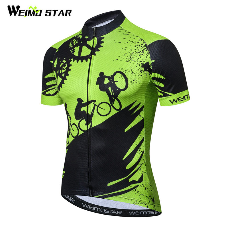 Weimostar 2018 Cycling Jersey Men Summer Racing Sport Bike Jersey Shirt Breathable MTB Bicycle Clothing Ropa Maillot Ciclismo
