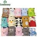 Детское Одеяло С Капюшоном Полотенце для Новорожденных 3D Милые Животные Халат С Капюшоном Пеленание Младенца Конверт для Малышей С Капюшоном Халат