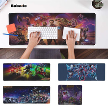 Babaite My Favorite Avengers Infinity War  Natural Rubber Gaming mousepad Desk Mat Free Shipping Large Mouse Pad Keyboards