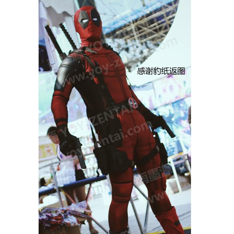 Hoge kwaliteit Custom Made Deadpool kostuum met spiervulling 3D Print - Carnavalskostuums